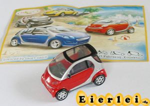 Smart Fortwo Coupe 2004 mit Beipackzettel als Automodell Maßstab 1:87
