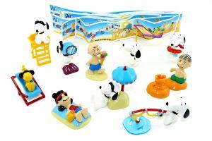 Snoopy - Peanuts am Strand Japan 2002 (10 Figuren aus Japan mit 10 Beipackzettel - selten)