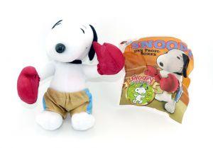 Snoopy als BOXER mit Beipackzettel (Plüschfigur aus dem Maxi Ei)