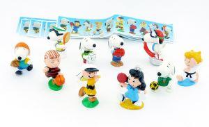 Snoopy II - Peanuts Sportler aus Japan von  2002 alle 10 Figuren und 10 Beipackzettel