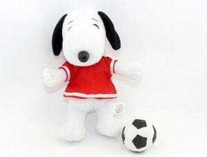 Snoopy Figur als Fußballer (Plüschfigur aus dem Maxi Ei)