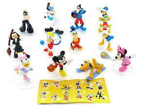 Conad Sport mit Beipackzettel von Walt Disney. 12 schöne Figuren mit Tritt