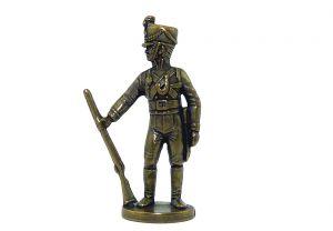 Preußen Figur Jäger aus Messing (Metallfigur)