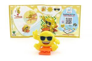 Emoji Clip mit orangen Stern. SE793 mit Beipackzettel (Kinderjoy Emojoy)