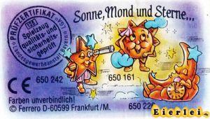 Sonne, Mond und Sterne Beipackzettel zur Serie