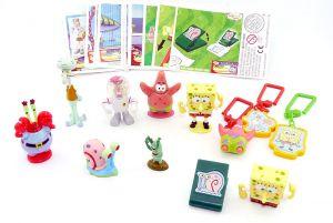 Satz SpongeBob Schwammkopf Figurenkomplett mit Spielzeug (Deutsche Komplettsätze)