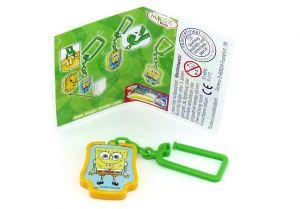 Schlüsselanhänger von SpongeBob Schwammkopf mit Beipackzettel