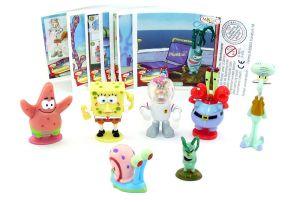 Satz SpongeBob Schwammkopf Figuren mit allen Beipackzetteln aus dem Ü-Ei