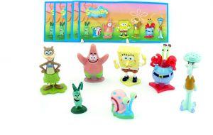 SpongeBob Figurensatz von 2012 mit allen Beipackzetteln (Sätze Europa)