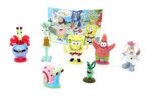 Satz SpongeBob Schwammkopf Figuren mit einem BPZ aus dem Ü-Ei