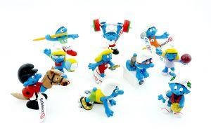 10 Sportler - Olympiade Schlümpfe von Schleich 2012