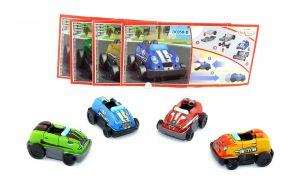 4er Satz Sprinty Rennwagen mit Rückziehmotor