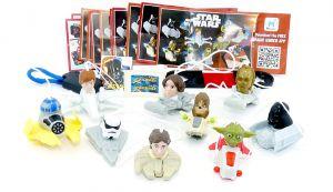 Komplettsatz Star Wars Figuren mit allen Beipackzetteln