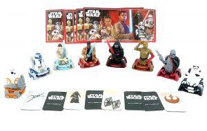 Kinder Surprise Figurensatz Star Wars 2018 mit allen 8 Beipackzetteln aus Korea