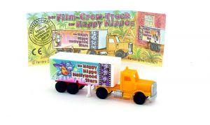 Truck Happy Hippo Hollywood in orange mit Beipackzettel (Motiv Happy Hero)