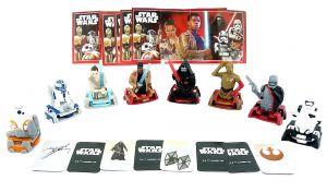 Kinder Surprise Figurensatz Star Wars 2019 mit allen 8 Beipackzetteln (Sätze aus Deutschland)
