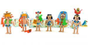 Satz Steckfiguren Ägypter mit allen an Zubehör und Beipackzetteln