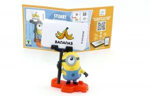 STUART Figur (SD700) mit Beipackzettel von den Minions 3