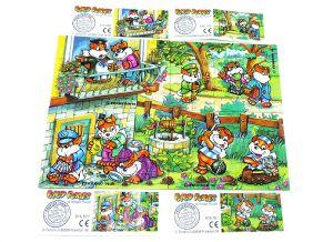 Fancy Fuxies, alle 4 Puzzleecken der Serie mit Beipackzetteln (Superpuzzle 60 Teile)