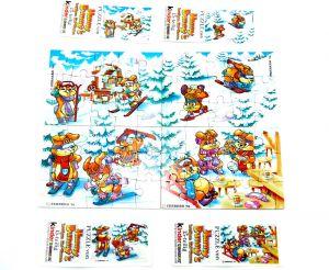 Hanny Bunny, alle 4 Puzzle mit allen Beipackzetteln (Superpuzzle)