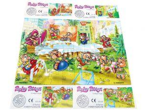 Pinky Piggys, alle 4 Puzzle mit Beipackzettel (Superpuzzle 60 Teile)
