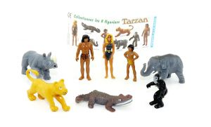 8 schöne Tarzan Figuren mit Beipackzettel (Firma Schwind)