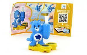 Glücksbär - Care Bears in blau EN227A mit Zettel (Ü-Ei Glücksbärchen 2018)