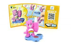 Glücksbär - Care Bears in rosa EN227 mit Zettel (Ü-Ei Glücksbärchen 2018)