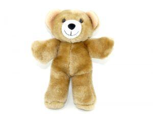Plüsch Teddy, war 1999 im Maxi Ei Italien (Höhe 17cm)