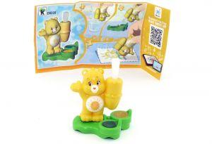 Glücksbär - Care Bears in gelb EN228 mit Zettel (Ü-Ei Glücksbärchen 2018)
