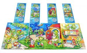 Alle 4 Puzzleecken von den Super Spacys und 4 Beipackzetteln