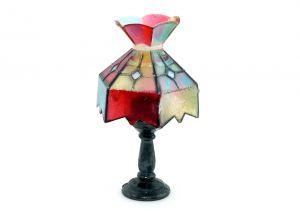 Tiffany Lampe mit Metallsockel Nr. 1 (Metallfiguren)