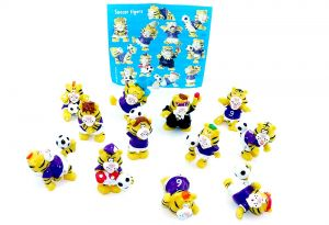 10er Satz Soccer Tigers Figuren mit Beipackzettel (Onken)