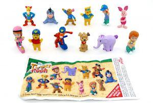 Winnie, Tigger und Pooh Figurenset und Beipackzettel von Zaini