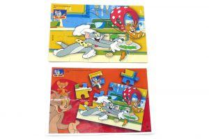 Puzzleecke von Tom & Jerry Nr. 4 mit Beipackzettel Ü-Ei Puzzle