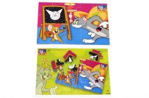 Puzzleecke von Tom & Jerry Nr. 1 mit Beipackzetteln Ü-Ei Puzzle
