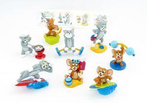 8 Figuren von Tom und Jerry und ein Beipackzettel (Komplettsatz)