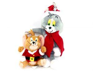Tom und Jerry als Weihnachtsfiguren mit Anhänger (Maxi Ei)