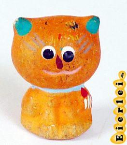 Katze aus Ton in orange (Alte Ü-Ei Inhalte)