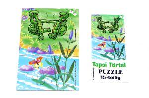 Puzzleecke unten rechts aus der ersten Tapsi Törtels Serie mit Beipackzettel (15 Teile Puzzle, selten)
