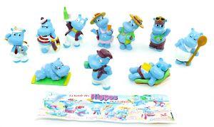 La bande des HIPPOS en vacanes. Französischer Figurensatz vom Traumschiff mit Beipackzettel