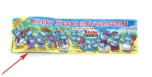Beipackzettel vom Happy Hippo Traumschiff mit ZDF und langer Kennung
