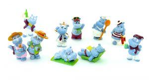 Die Happy Hippos auf dem Traumschiff. Alle 10 Figuren der Serie (Träumer auf grüner Liege)