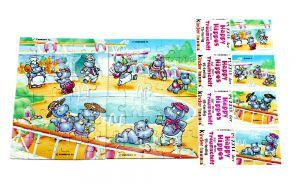 Alle 4 Puzzleecken und Beipackzeztel von Happy Hippo Traumschiff (Superpuzzle)