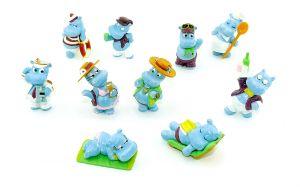 Die Happy Hippos auf dem Traumschiff, alle 10 Figuren der Serie