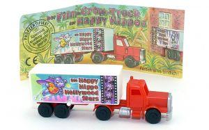 Truck Happy Hippo Hollywood in rot mit Beipackzettel (Motiv Happy Hero)