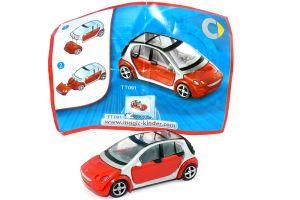 Smart forfour in rot 2007 mit Beipackzettel als Automodell Maßstab 1:87