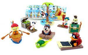 Satz Baby Looney Tunes als Piraten mit Zettel etc. (Sätze Europa - Mini Gran Sorpresa Ei)
