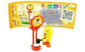 Tweety Figur mit Beipackzettel (Die Geburtstagsparty, Der kleine gelbe Vogel)