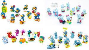 Vier versch. Sätze: Company-Aqualand-Fanten-Birds Komplettsätze